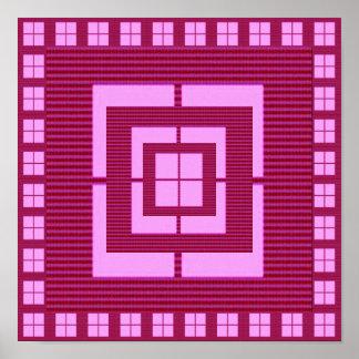 Faux Pink  Purple  Window Tiles : Decoration Posters