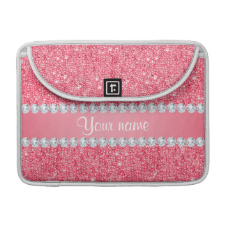 Faux Pink Sequins and Diamonds Sleeve For MacBook Pro