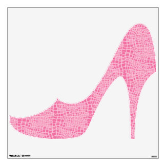 Faux Pink Snake Skin Stiletto Heel Wall Graphics