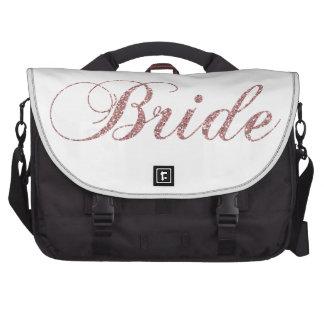 Faux Pink Sparkles Bride Commuter Bags