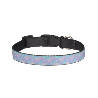 Faux Plaster Colorful Pattern Pet Collar
