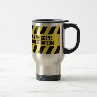 Faux Police Line custom text mugs