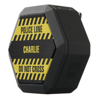 Faux Police Line custom text speaker