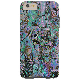 Faux Purple Blue Turquoise Sea Shell Pattern Tough iPhone 6 Plus Case