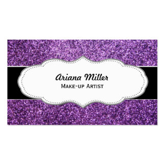 Faux Purple Glitter business cards