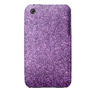 Faux Purple Glitter Case-Mate iPhone 3 Cases