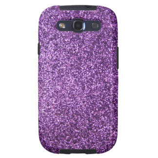 Faux Purple Glitter Galaxy S3 Case