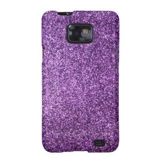 Faux Purple Glitter Galaxy SII Cover