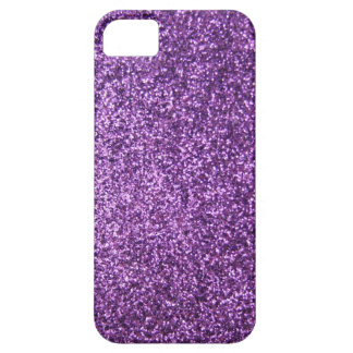 Faux Purple Glitter iPhone 5 Covers