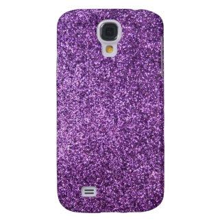 Faux Purple Glitter Samsung Galaxy S4 Case