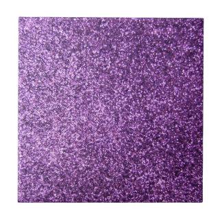 Faux Purple Glitter Ceramic Tile