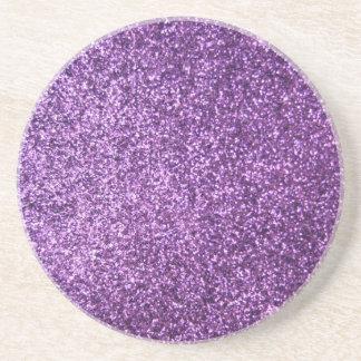 Faux Purple Glitter Coaster