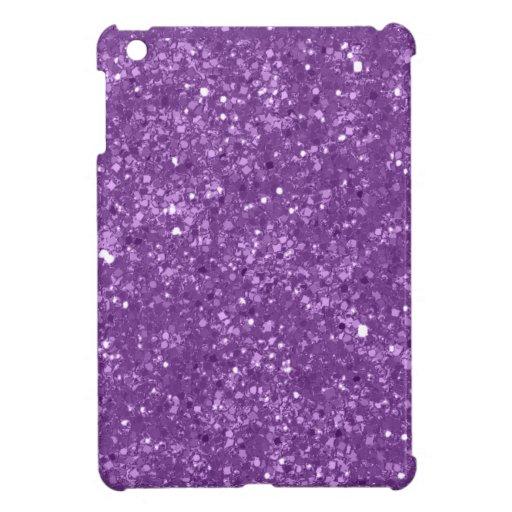 Faux Purple Glitter Cover For The iPad Mini