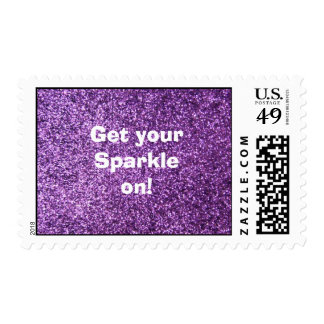 Faux Purple Glitter - Get your sparkle on Postage