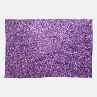 Faux Purple Glitter Hand Towel
