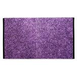 Faux Purple Glitter iPad Folio Case