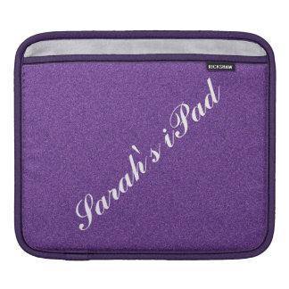 Faux Purple Glitter iPad Sleeve