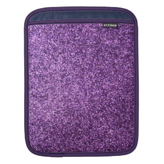 Faux Purple Glitter Sleeves For iPads