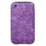 Faux Purple Glitter iPhone 3 Tough Cases
