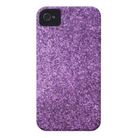 Faux Purple Glitter iPhone 4 Case-Mate Case