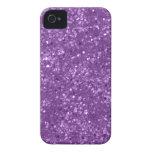 Faux Purple Glitter iPhone 4 Cover