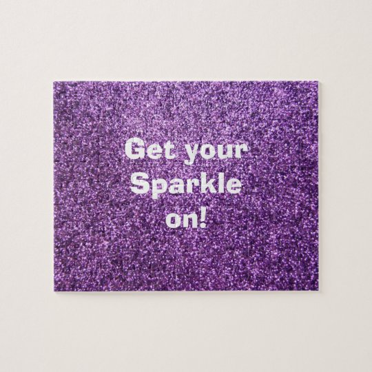 Faux Purple Glitter Jigsaw Puzzle