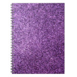 Faux Purple Glitter Journals