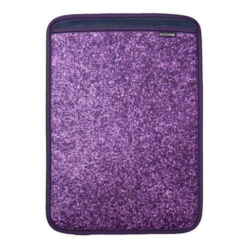 Faux Purple Glitter MacBook Air Sleeves