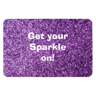 Faux Purple Glitter Magnet