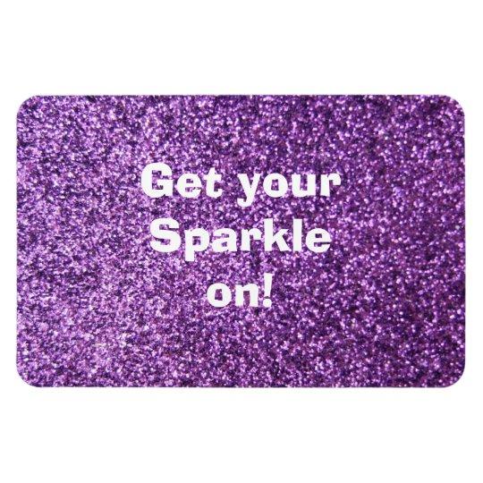 Faux Purple Glitter Magnet
