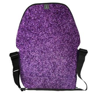 Faux Purple Glitter Commuter Bags