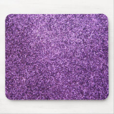 Faux Purple Glitter Mouse Pad at Zazzle