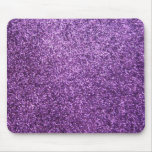 Faux Purple Glitter Mouse Pads