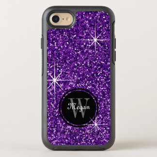 Faux Purple Glitter OtterBox Symmetry iPhone 7 Case
