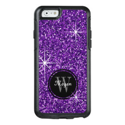 Faux Purple Glitter Personalized OtterBox iPhone 6/6s Case