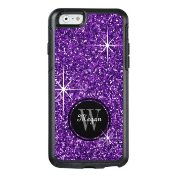 Faux Purple Glitter Personalized Otterbox Iphone 6/6s Case by reflections06 at Zazzle