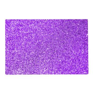 Faux Purple Glitter Photo Placemat