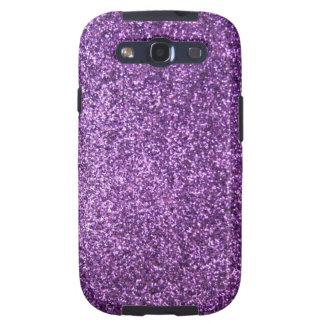 Faux Purple Glitter Samsung Galaxy SIII Case