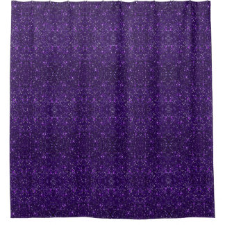 Faux Purple Glitter Shower Curtain