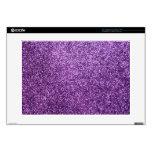 Faux Purple Glitter Skin For Laptop