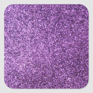 Faux Purple Glitter Sticker