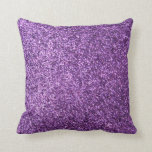 "Faux Purple Glitter Throw Pillow<br><div class=""desc"">NOTE: PRODUCT DOES NOT CONTAIN ACTUAL GLITTER. IT IS A GLITTER GRAPHIC. glitter, glittery, sparkle, sparkles, sparkly, sparkley, sparkling, glittering, glitters, shiny, shine, purple, elegant, stylish, girly, girl, girls, bling, cute, fun, shiney, fashion, fashionable, trendy, soft, focus, modern, contemporary, pretty, sequin, sequins, glam, glamor, glamorous, glamour, style, diamond, diamonds, crystals,...</div>"