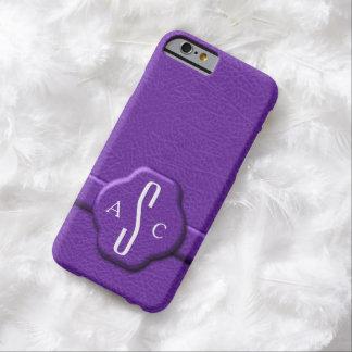 Faux Purple Leather 3 Letter Monogram iPhone6 Case iPhone 6 Case