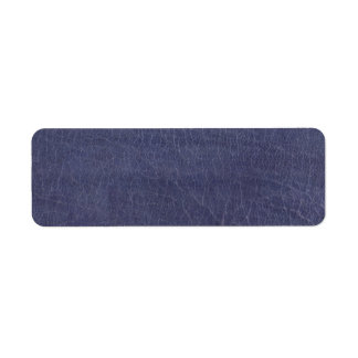 Faux Purple Leather Texture Return Address Label