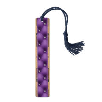 FAUX purple quilted leather, diamante Bookmark