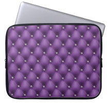 FAUX Purple quilted leather, diamante Computer Sleeve