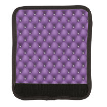 FAUX purple quilted leather, diamante Handle Wrap
