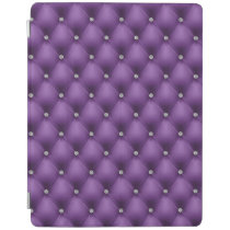 FAUX purple quilted leather, diamante iPad Smart Cover