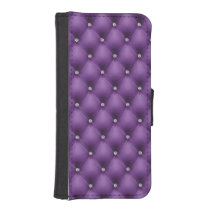 FAUX Purple quilted leather, diamante iPhone SE/5/5s Wallet