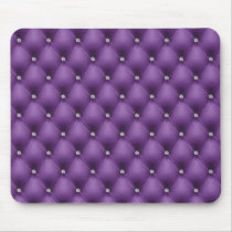 FAUX Purple quilted leather, diamante Mouse Pad